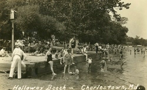 The cooling water of the Chesapeake Bay made Cecil's resorts very popular in the 1930s