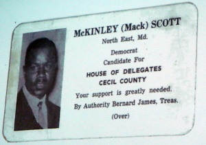 McKinley Scott campaigned for the House of Delegates in 1968.