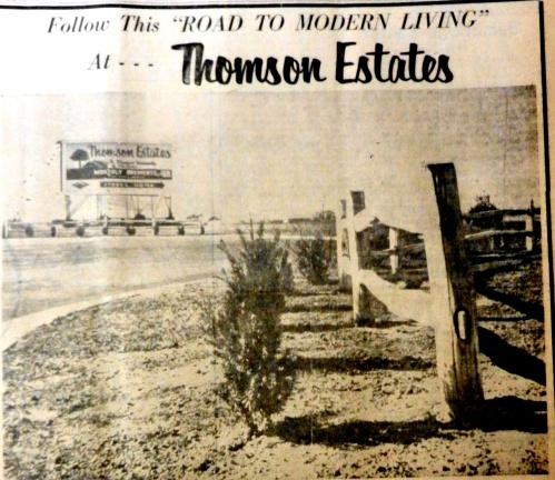 Modern homes were available in Thomson Estates