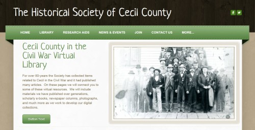 The Civil War virtual  library at the Society has just opened.  Lots more will be coming to this page in the months ahead.