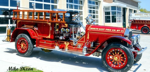 The American La France from the North East Volunteer Fire Company.