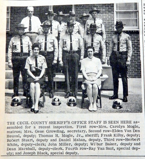Cecil County Sheriff's Office Inspection, July 1967, Source:  Cecil Democrat.