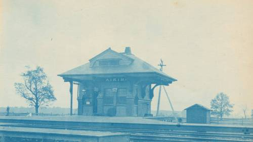 B & O Railroad Station, Aiken, MD. 1891.  Source:  Library Company of Philadelphia.