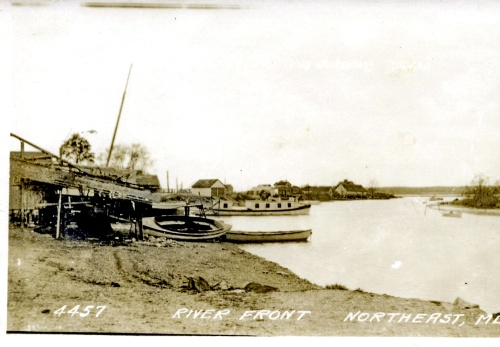 The river front in North East about 1914.  Source:  Private collection