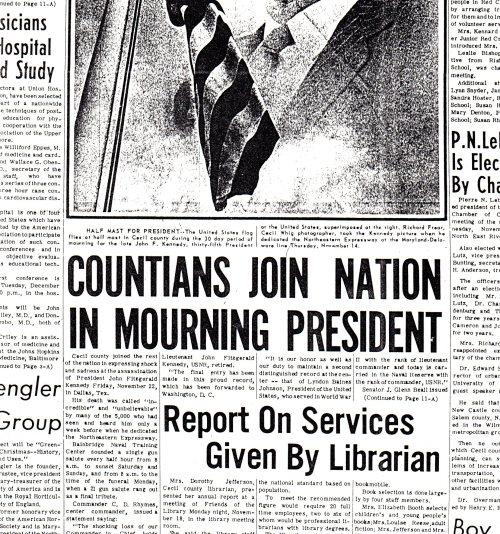 Cecil Whig, Nov. 27, 1963