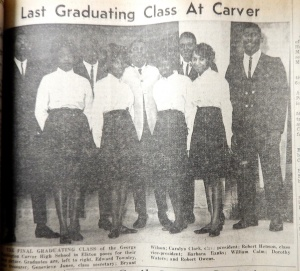 Last graduating class at Carver.  Cecil Democrat, June 3, 1964