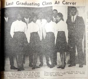 Last graduating class at Carver.  Cecil Democrat, June 3, 1964