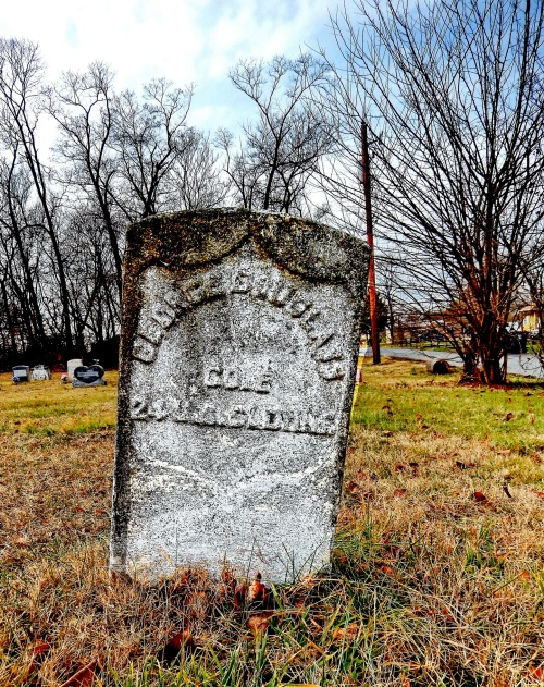 In Cecilton, a Federal tombstone for George Douglass of the USCT