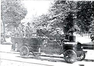 A photo of Singerly's  GMC fire truck.