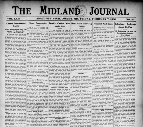 midland journal rising sun