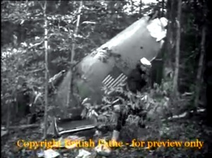 Scene from newsreel of Eastern Airlines Flight 605 Crash in 1947.  Source:  British Pathe