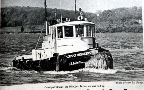 The Patrol boat, Pilot, on the Chesapeake and Delaware Canal.  Source:  Cecil Whig, November 20, 1968