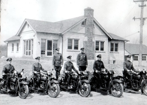 The Maryland State Police Post at Conowingo in 1929