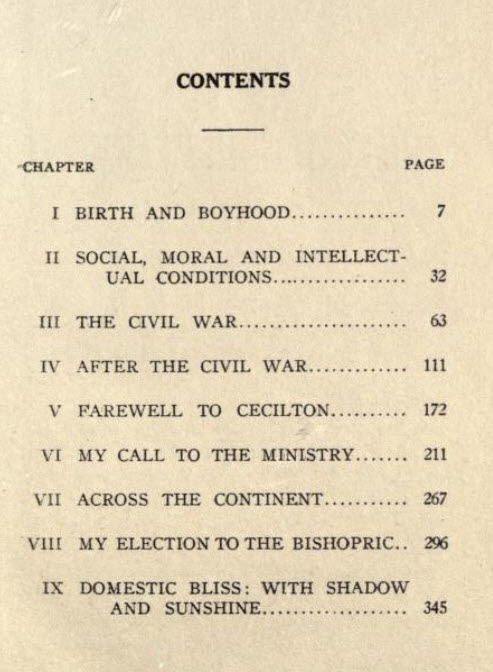 Tablet of Contents, the Unwritten history by Bishop Levi J. Coppin