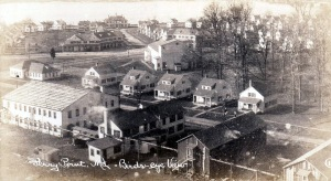 A birds-eye view of the Perry Point Village, from a postcard, circa 1922.  Source:  personal collection