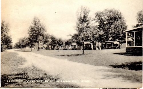 A 20th century postcard of the cottages at Port Herman.