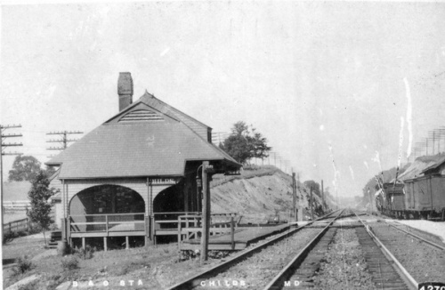A postcard of the Childs Railroad Station, Circa 1914.  Source:  Personal Collection