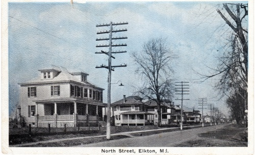 A postcard showing a portion of North Street where the changes occurred.  C 1920s.  photo source:  personal collection.