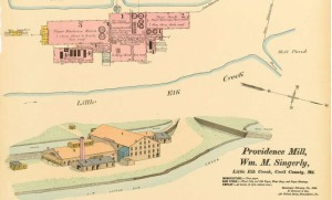 The Providence Paper Mill, 1890.  Source:  Hexamer Maps from the Philadelphia Free Library.