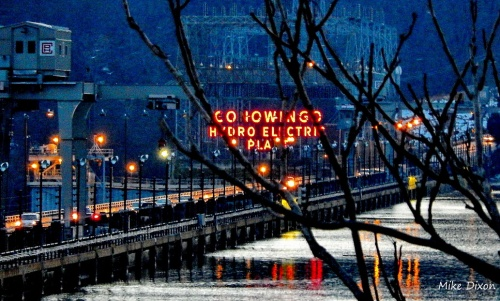 On Dec. 21, 2013, the longest night of the year, winter twilight descends on the Conowingo Dam.