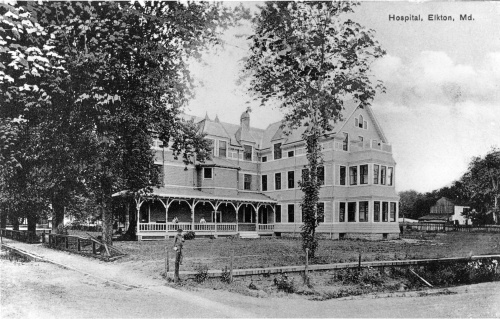 Union Hospital of Cecil County.  A postcard, circa 1916.  source:  personal collection.