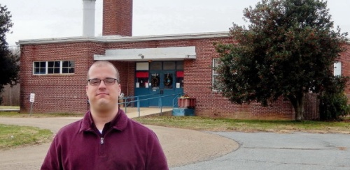 Kyle Dixon at Levi J Coppin School in Cecilton, an African-American School