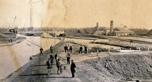 Chesapeake & Delaware Cnal Pumphouse in 1867