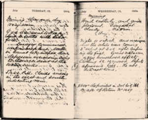 A Civil War era diary kept by the manager of the Chesapeake and Delaware Canal.