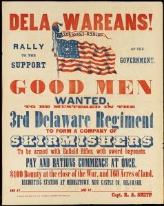 Delaware Civil War Recruiting Poster